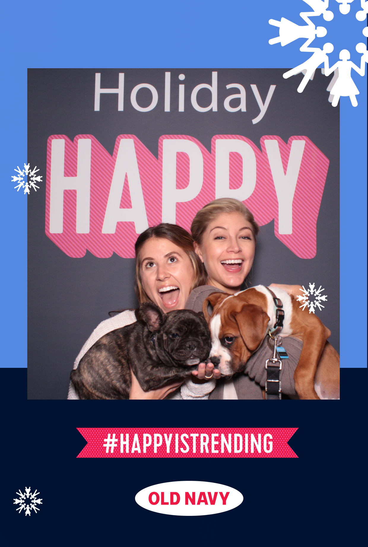 a hashtag print layout example from an old navy event in Los Angeles
