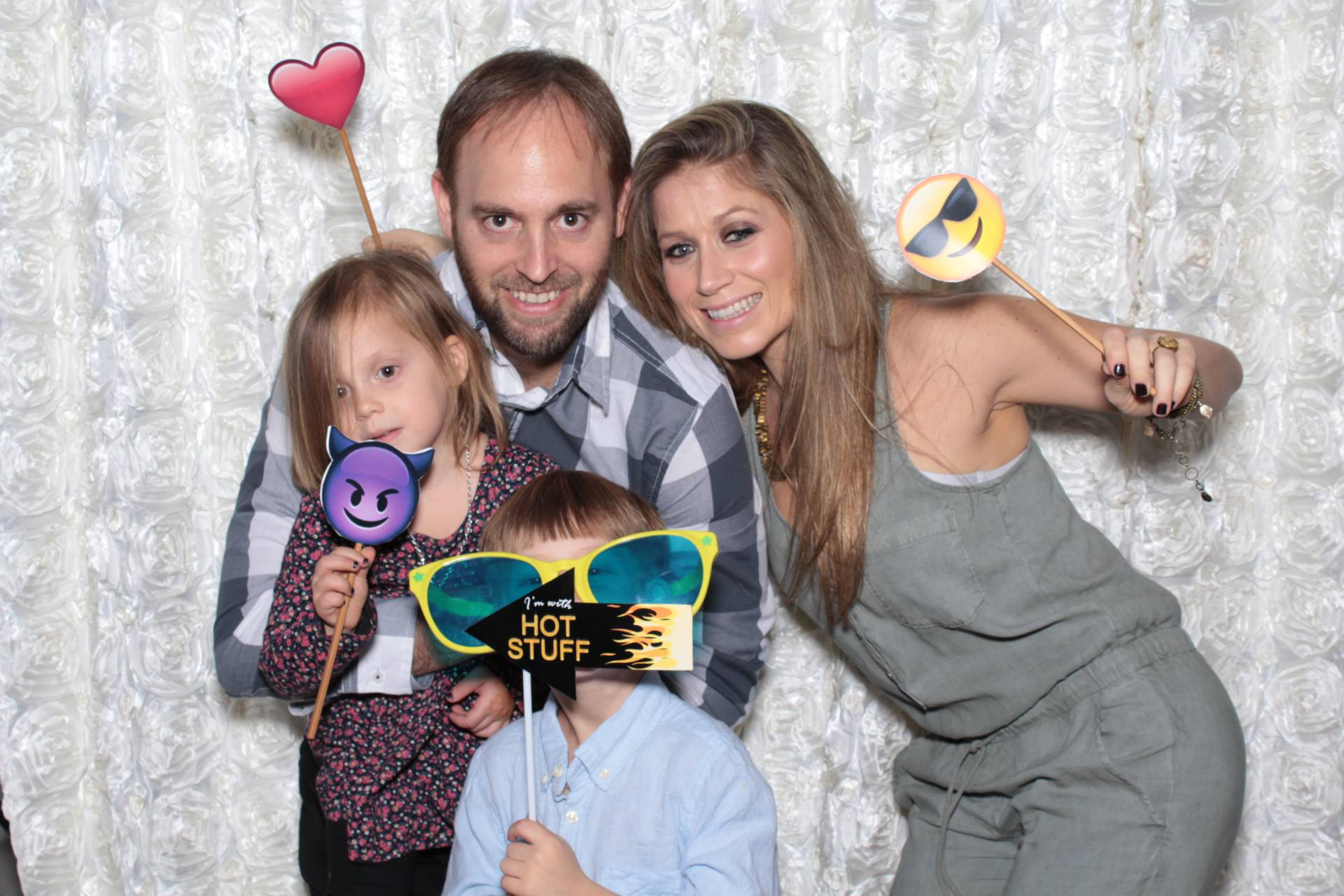 a photo booth photo with a beautiful white background at a bar mitzvah in studio city, los angeles, ca