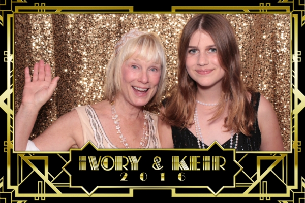 A Great Gatsby themed photo booth print in Malibu by Maple Leaf Photo Booths