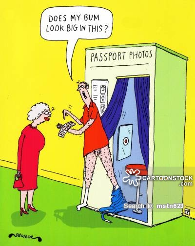 an inappropriate photo booth photo cartoon with a man showing his butt