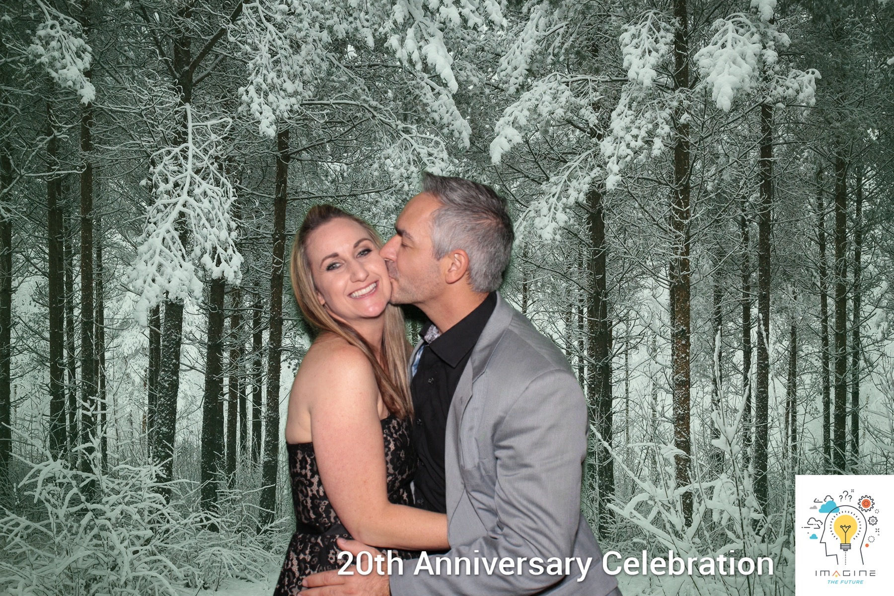 A high resolution green screen photo taken by a Maple Leaf Photo Booth at a holiday party for move.com and realtor.com planned by a San Francisco corporate event planning firm